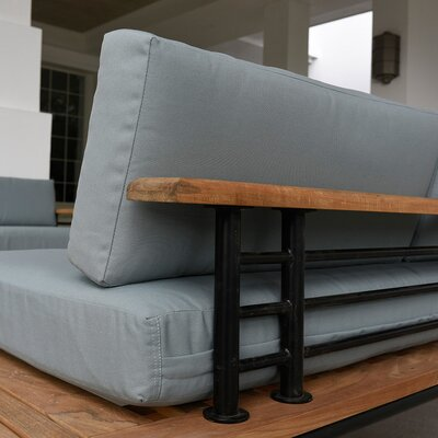 Clary Teak Patio Daybed with Cushion   AllMode