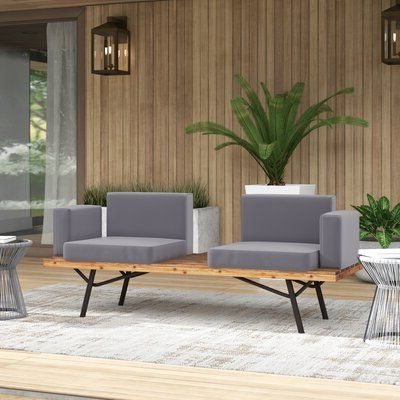 Photo Gallery of Clary Teak Lounge Patio Daybeds With Cushion .
