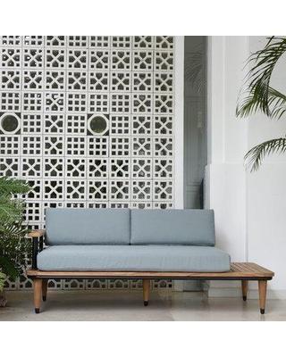Big Savings for Mercury Row® Clary Teak Patio Daybed with Cushion .
