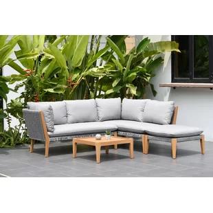 Modern Patio Sets | AllModern in 2020 | Teak patio furniture .
