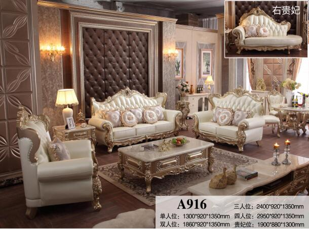 French Style Living Room Sofa Sets Furniture Classic Sofas 2 3 .