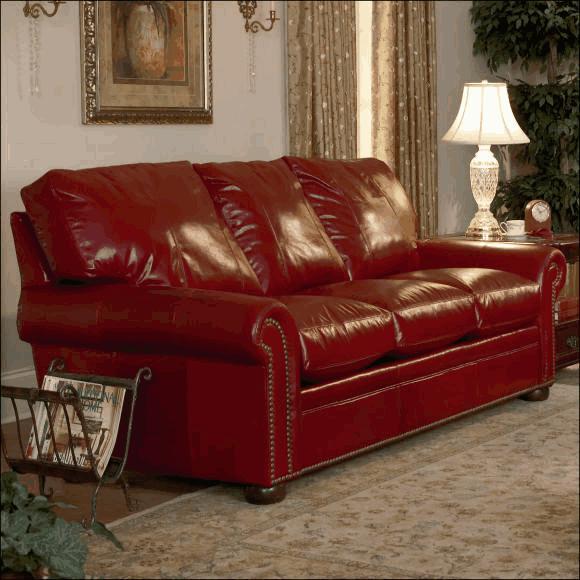 Easton Leather Sofa by Classic Leather Easton Sofa 1115
