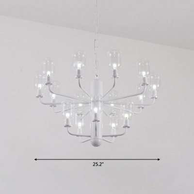 Vintage Luxury Style Candela LED Chandelier Black/White 16 Light .