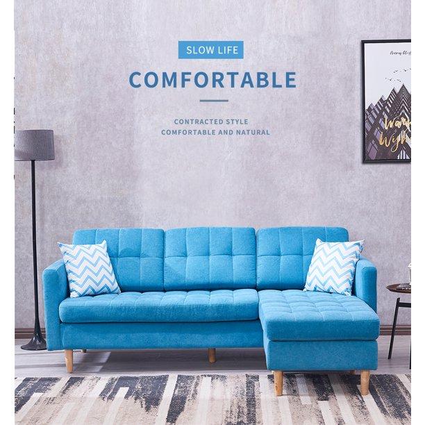Clearance! Sectional Sofa Furniture, Modern Mid Century Linen Sofa .
