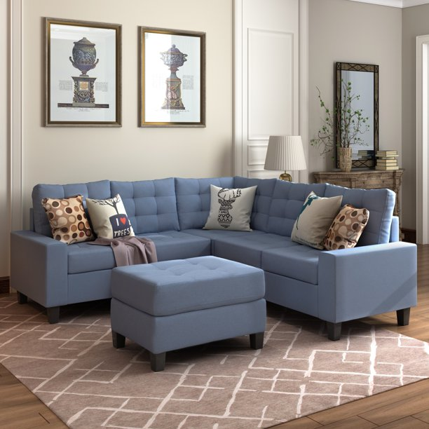 Clearance! Sectional Sofa, Modern Fabric Sectional Sofa with .