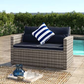 Breakwater Bay Clifford Patio Sofa with Cushion & Reviews | Wayfa