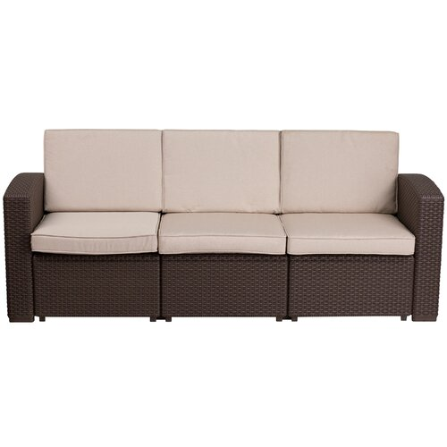 Clifford Patio Sofa with Cushions & Reviews | Joss & Ma