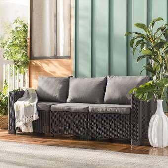 Clifford Patio Sofa with Cushions   Patio sofa set, Patio sofa .