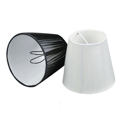 12cm Modern black white Chandelier lampshade, Pull line Fabric .