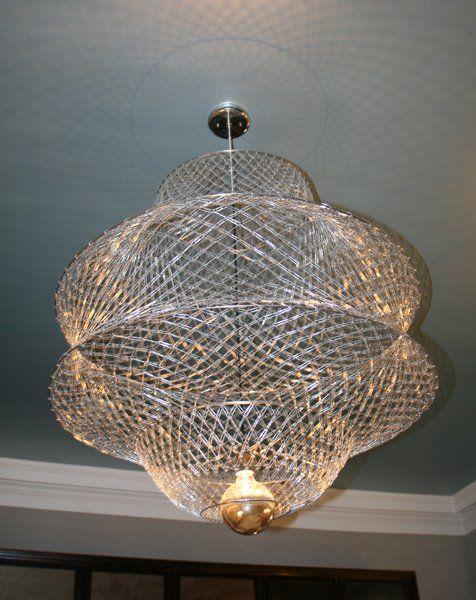 Inventive Paperclip Chandelier Design | Unique chandeliers .