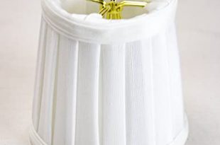 3x4x4 Down White Pleated Clip-on Candelabra Lampshade - Perfect .