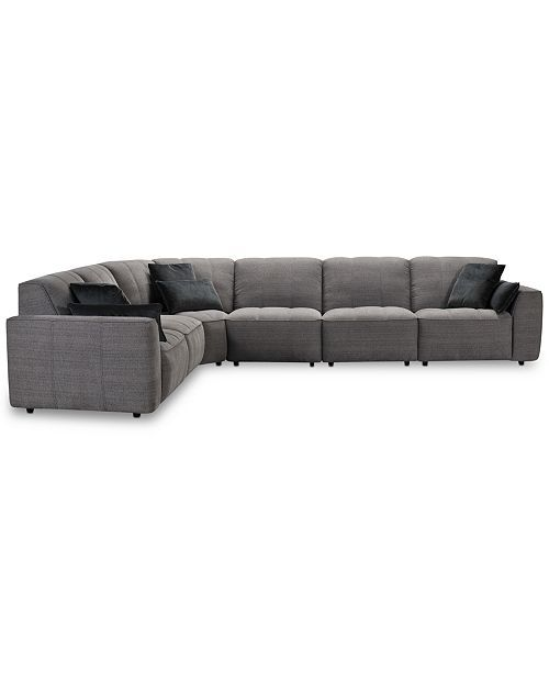 Furniture CLOSEOUT! Amboise 6-Pc. Fabric Sectional Sofa, Created .