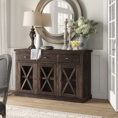 Colborne Sideboard Color: Salvaged Gray in 2020 | Solid wood .