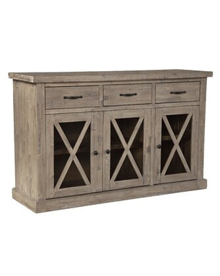"Discover Deals on Colborne 58"" Wide 3 Drawer Acacia Wood Sideboard ."