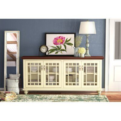 """Rosecliff Heights Colefax Vintage TV Stand for TVs up to 78"""" Top ."""