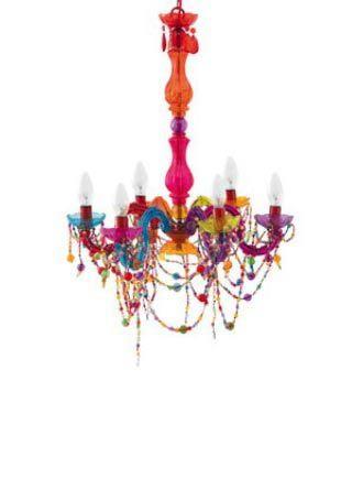 Colourful chandelier | Colorful chandelier, Ceiling pendant lights .