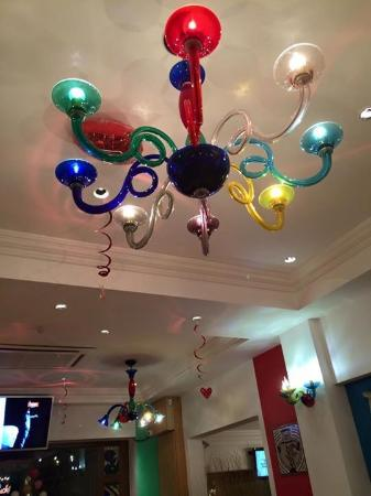 Colourful Chandelier - Picture of The Avenue Restaurant, Saint .
