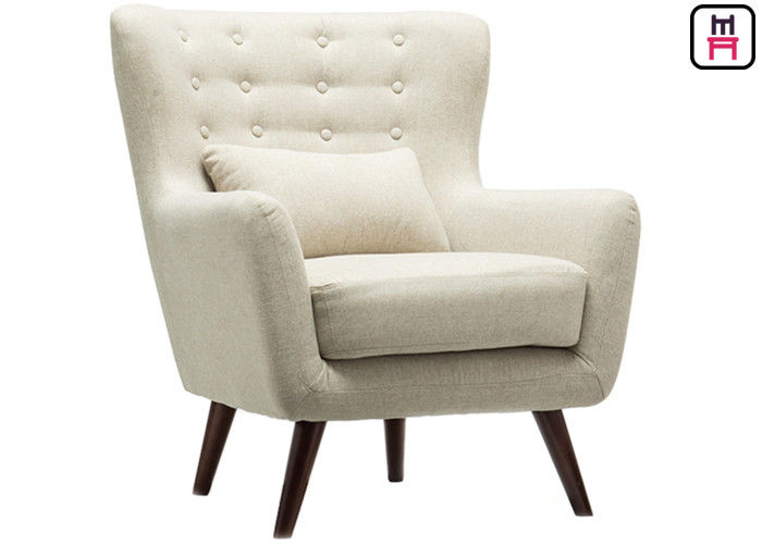 Nordic Style Cozy Armrest Single Sofa Chair Comfortable Wood Leg .