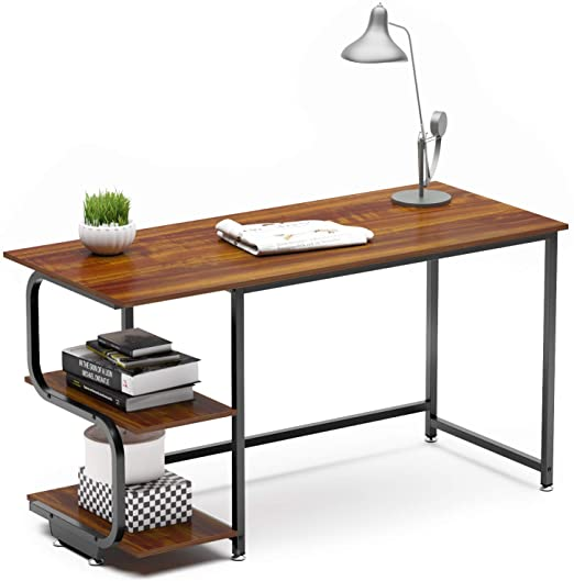 Amazon.com: Teraves Reversible Computer Desk for Small Spaces with .