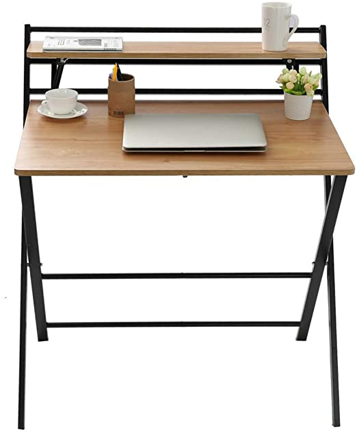 Amazon.com: Small Folding Desk Computer Desk for Small Space Home .