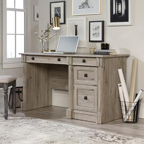 Palladia Home Office Desk with Storage Split Oak (424819) – Sauder .