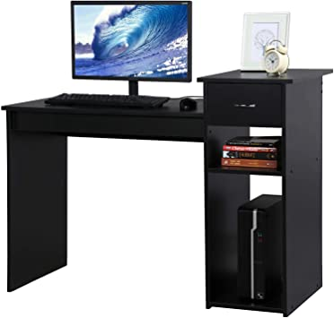 Amazon.com: YAHEETECH Compact Computer Desk with Drawer and .