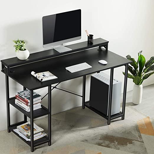 Amazon.com: Sedeta Computer Desk with Storage Shelves, 55 inch .