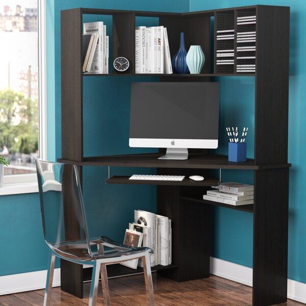Latitude Run® Friedman Corner Desk with Hutch & Reviews | Wayfa
