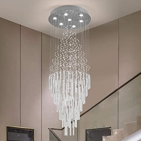 Raindrop Crystal Chandelier Modern Contemporary Chandelier Rain .