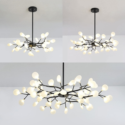 Metal Twig Pendant Light 30/45/54 Heads Contemporary Chandelier in .