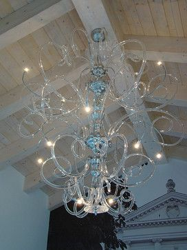Large contemporary modern Murano chandelier - Contemporary .