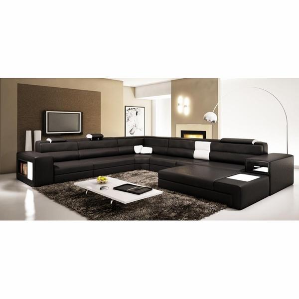 Divani Casa Polaris - Contemporary Bonded Leather Sectional So
