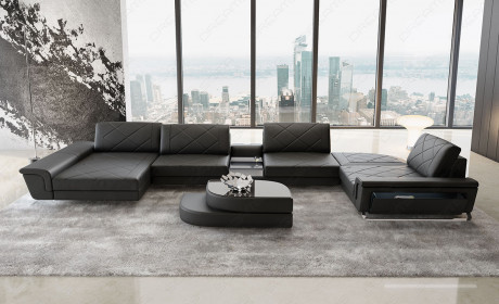 Contemporary Leather Sectionals | Modern Leather Sof
