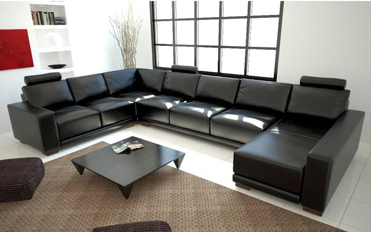 Modern Black Sectional Sofa TOS-LF-10