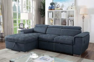 Convertible Sectional Sofa Bed CM6514 by Furniture of Ameri