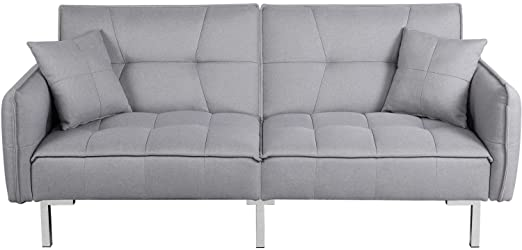 Amazon.com: YAHEETECH Sleeper Sofa Convertible Sofa Modern .