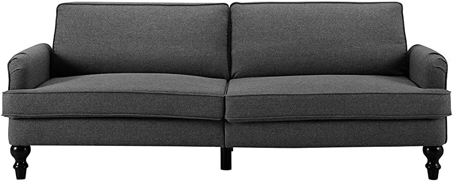 Amazon.com: Sofas 2 Go Charleston Convertible Sofa One Size Grey .