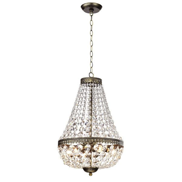 Shop Gracewood Hollow Poradeci Symmetric Crystal Antique Brushed .