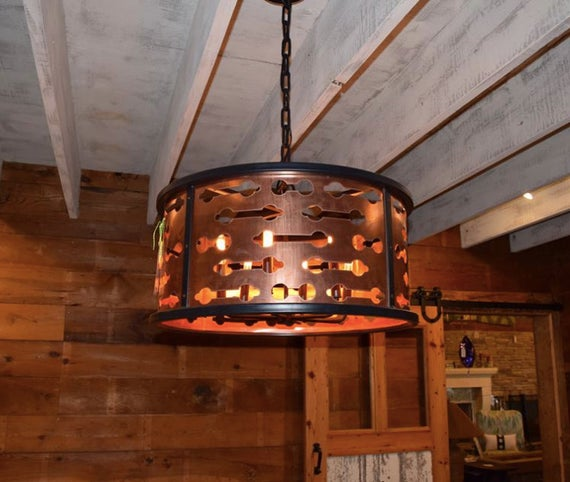 Copper Drum Chandelier Copper Lighting Copper Light Fixtures | Et