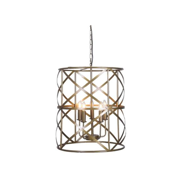 A TOUCH OF DESIGN Addie 5-Light Antique Copper Chandelier-WTY348 .