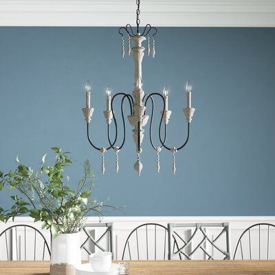 Corneau 5 - Light Candle Style Classic / Traditional Chandelier .