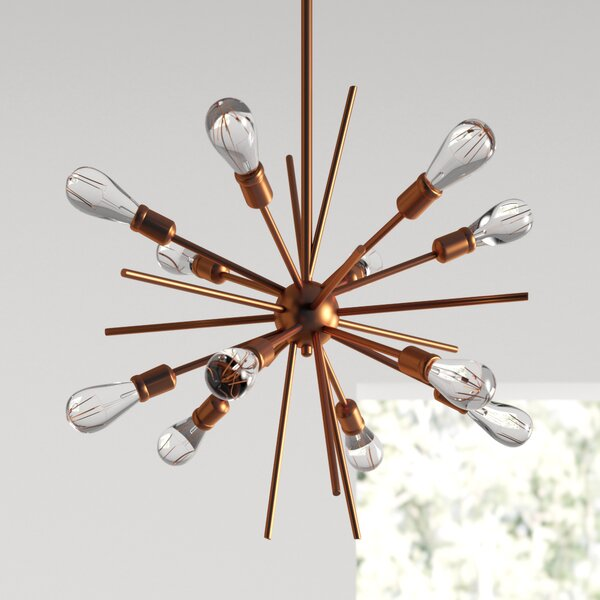 AllModern Corona 12 - Light Sputnik Modern Linear Chandelier .