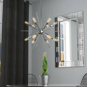 Langley Street Corozon 12-Light Sputnik Chandelier & Reviews | Wayfa