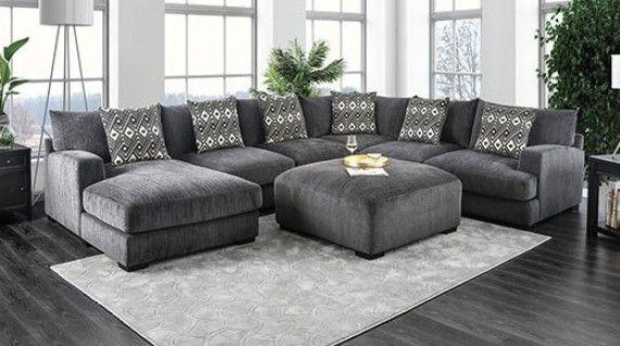 Kaylee Gray Large Sectional With Ottoman – Golden woods furnitu