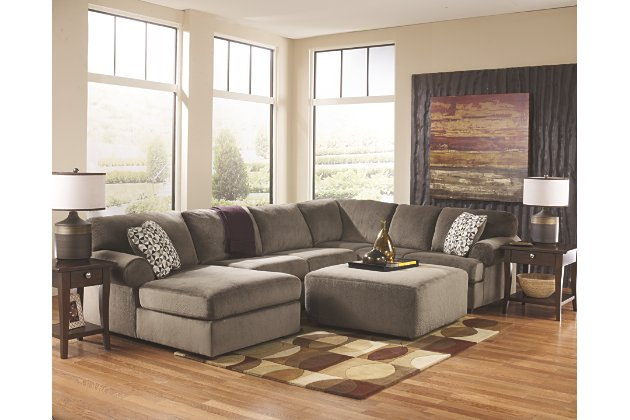 Jessa Place 3-Piece Sectional with Ottoman | Ashley Furniture .