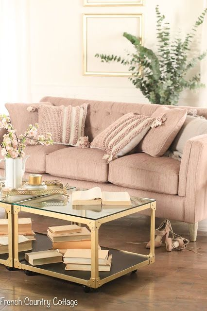 A Vintage Style Sofa & Room Design Challenge - French Country .