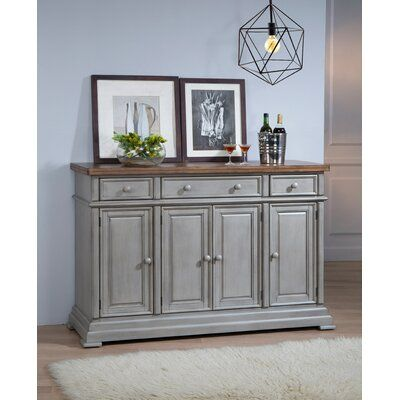 Three Posts Courtdale Sideboard | Furniture, Glass cabinet doors .