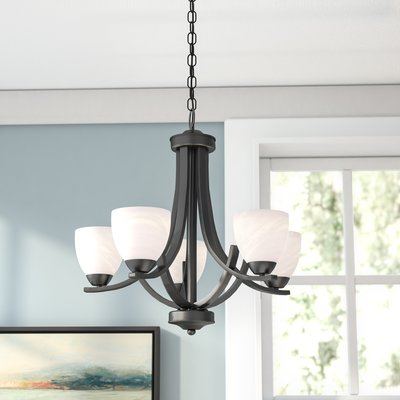 Red Barrel Studio Crofoot 5-Light Shaded Chandelier Finish: Bronze .