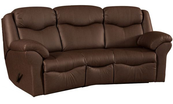 Kenwood Curved Reclining Sofa - Countryside Amish Furnitu