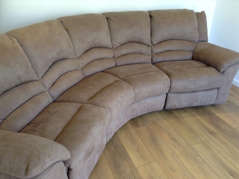 Curved Recliner Sofa Curved Reclining Sofa Foter TheSofa .